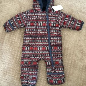 6-12 month snowsuit with fold over hand and feet